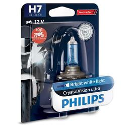 Philips 12V H7 55W PX26d Crystal Vision ultra Moto blister